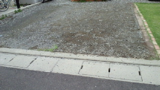 駐車場の土間うちその2